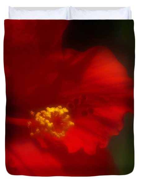 Hibiscus Softly 2 Duvet Cover by Travis Burgess