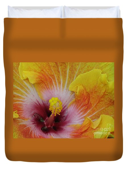 Duvet Cover featuring the photograph Hibiscus by Tam Ryan