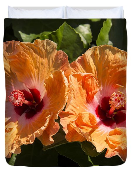 Hibiscus Twins Duvet Cover