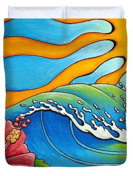 Hibiscus Wave Duvet Cover