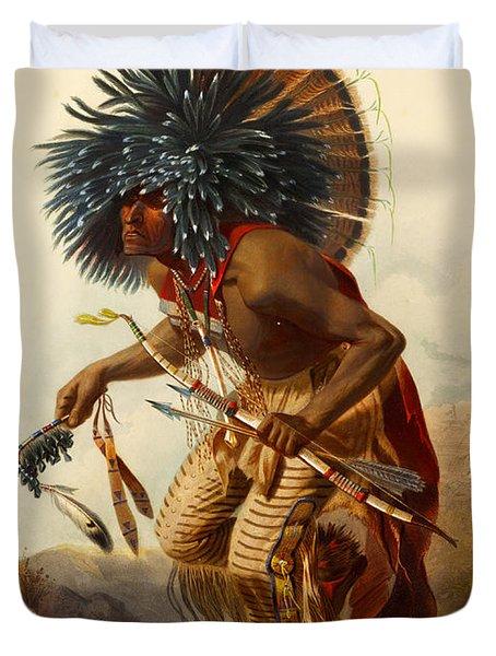Hidatsa Warrior Duvet Cover