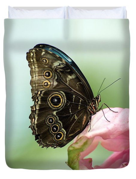 Duvet Cover featuring the photograph Hidden Beauty Of The Butterfly by Debbie Green