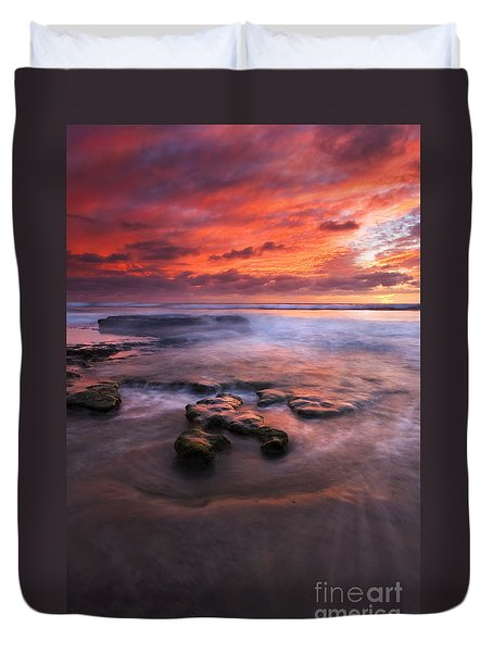 Hidden By The Tides Duvet Cover by Mike  Dawson