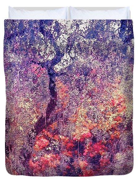 Hidden Garden Of Desire Duvet Cover by Jenny Rainbow