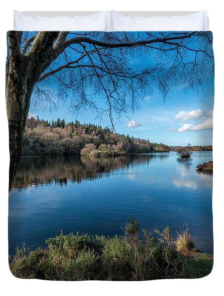 Hidden Lake Duvet Cover by Adrian Evans
