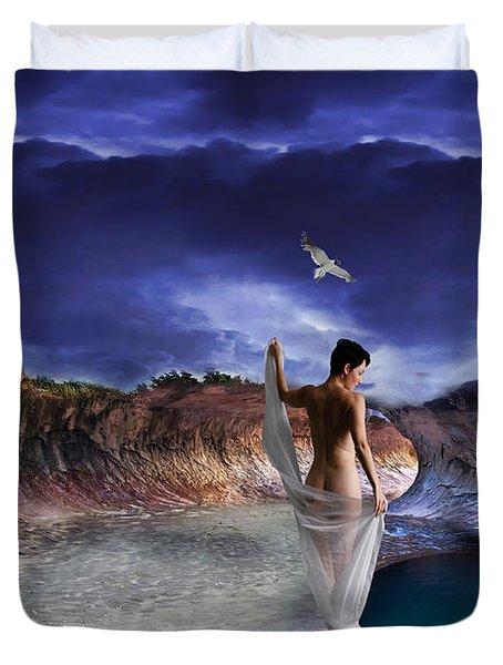 Hidden River Duvet Cover by Liane Wright