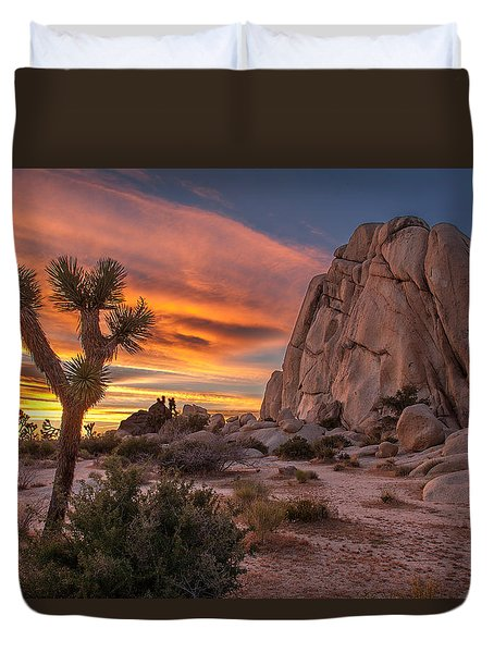 Hidden Valley Rock - Joshua Tree Duvet Cover