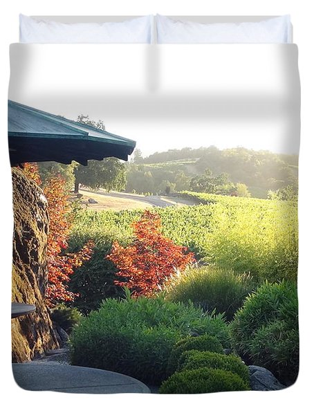 Duvet Cover featuring the photograph Hide Out 2 by Shawn Marlow