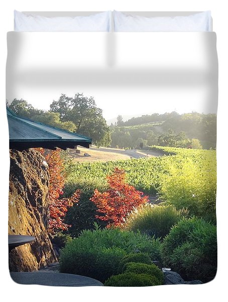 Duvet Cover featuring the photograph Hide Out  by Shawn Marlow