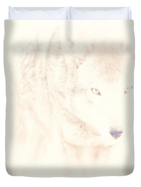 Hiding Behind Those Eyes Duvet Cover by Karol Livote