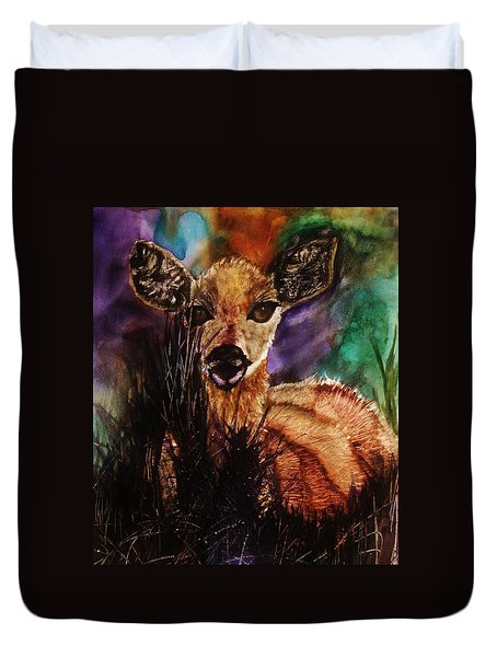 Hiding In The Shadows Duvet Cover by Lil Taylor