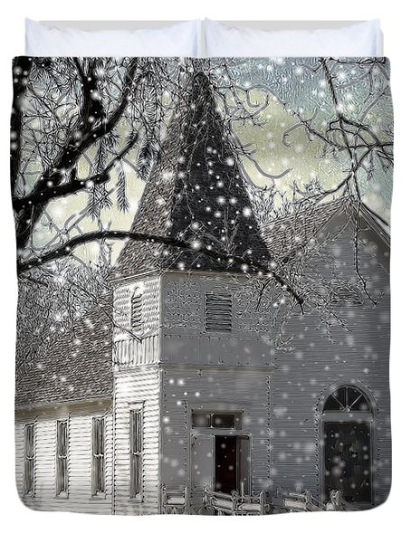Higgensville Church Duvet Cover