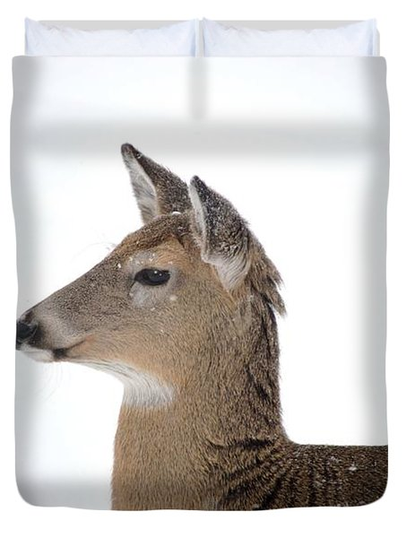 Duvet Cover featuring the photograph High Alert by Dacia Doroff