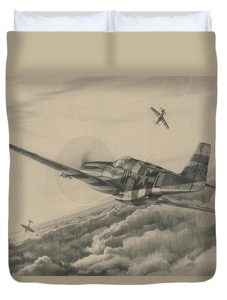 High-angle Snapshot Duvet Cover by Wade Meyers