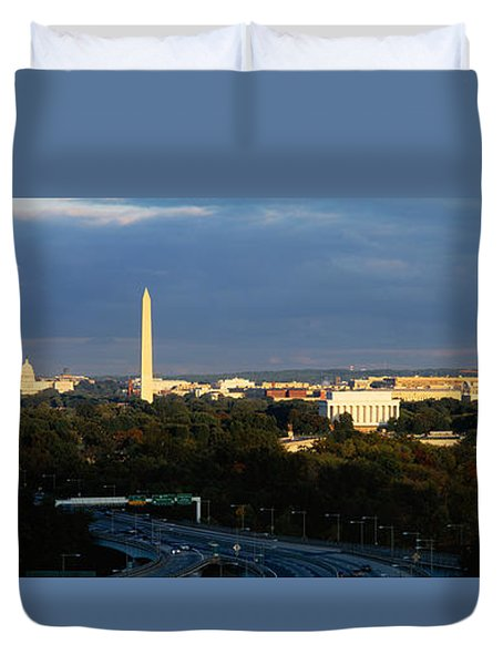 High Angle View Of A Monument Duvet Cover by Panoramic Images