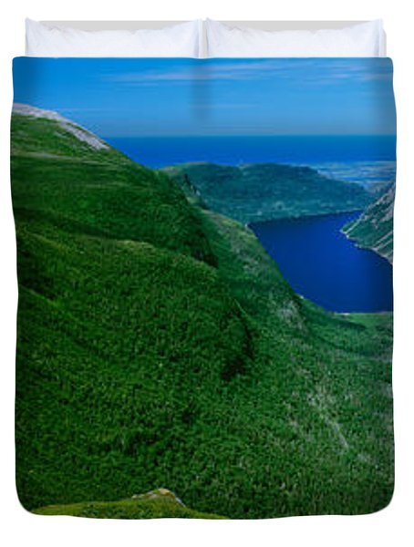 High Angle View Of A Plateau, Gros Duvet Cover