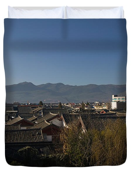 High Angle View Of Buildings In The New Duvet Cover