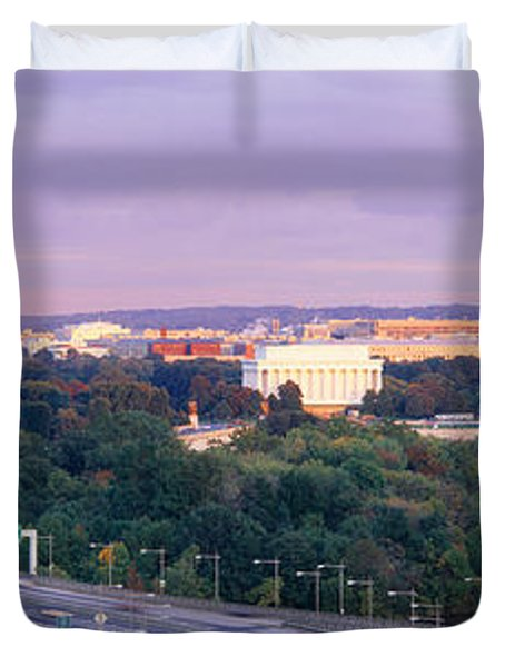 High Angle View Of Monuments, Potomac Duvet Cover by Panoramic Images