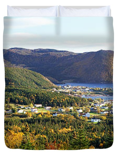 High Angle View Of Norris Point Duvet Cover