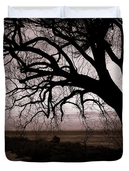 Duvet Cover featuring the photograph High Cliff Beauty by Lauren Radke