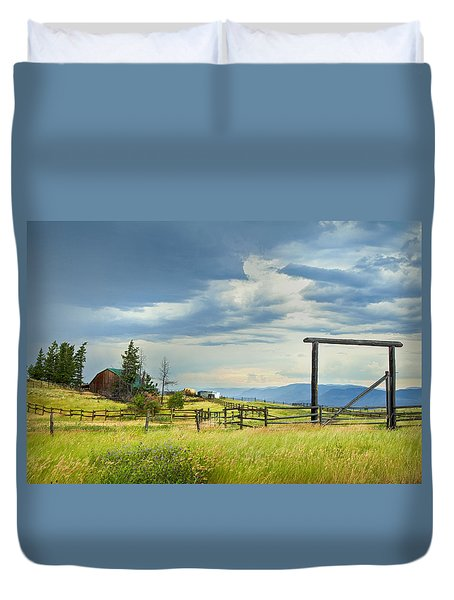 High Country Farm Duvet Cover