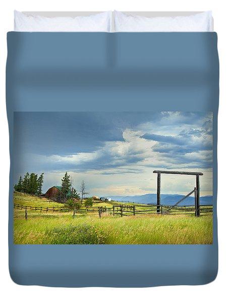 High Country Farm Duvet Cover by Theresa Tahara