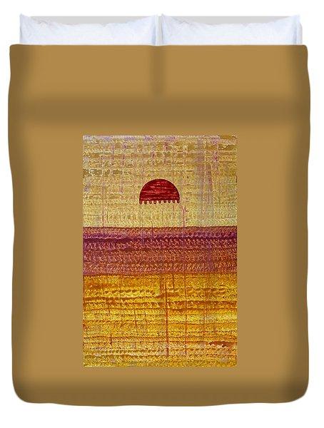 High Desert Horizon Original Painting Duvet Cover