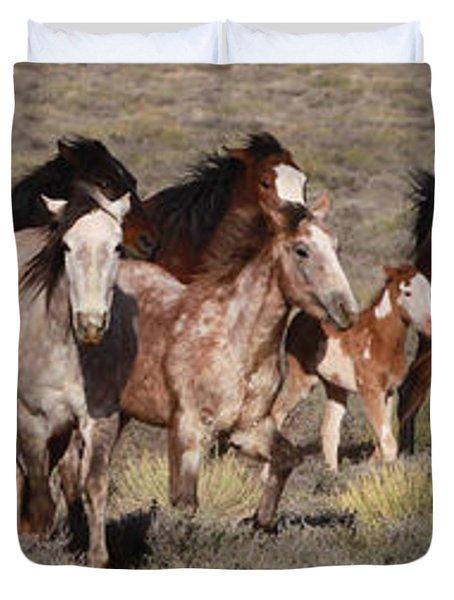 High Desert Horses Duvet Cover