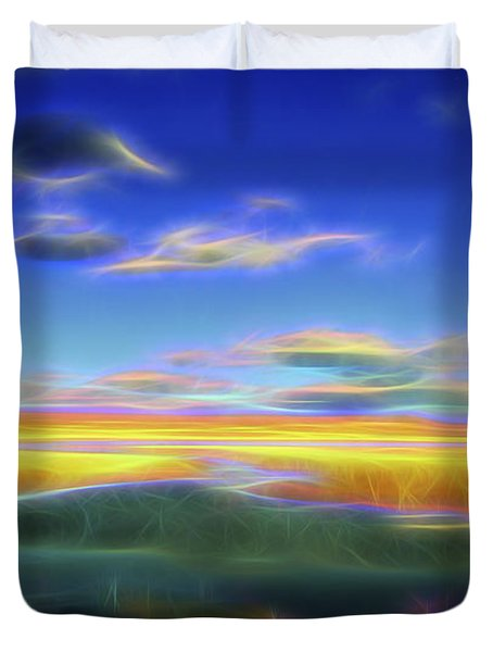 High Desert Lake Duvet Cover