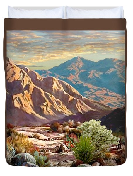 High Desert Wash Portrait Duvet Cover