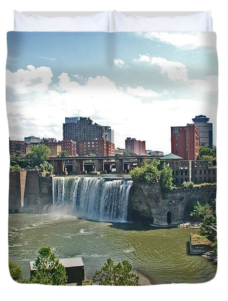 High Falls Duvet Cover by Aimee L Maher Photography and Art Visit ALMGallerydotcom