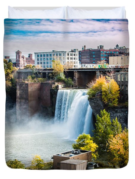 High Falls Rochester Duvet Cover