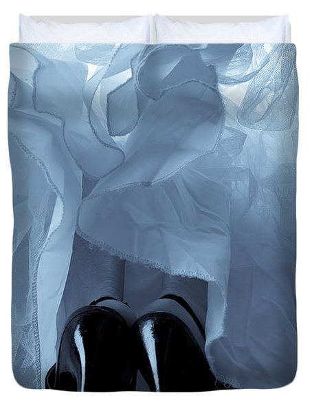 High Heels And Petticoats Duvet Cover