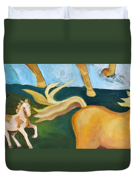 High Horse Duvet Cover
