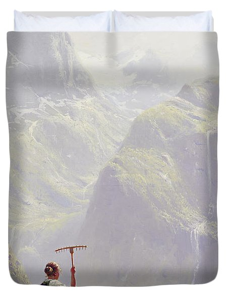 High In The Mountains Duvet Cover