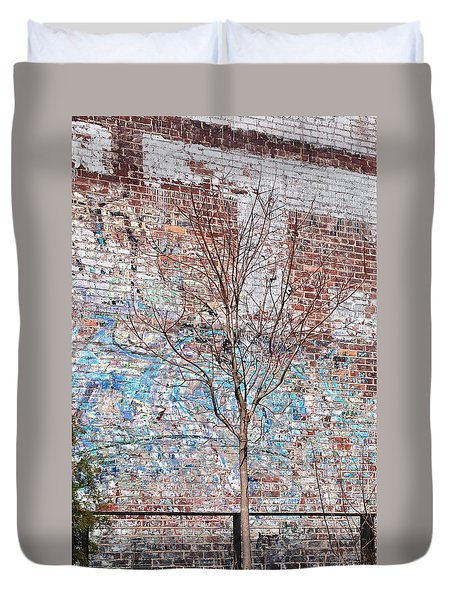 High Line Palimpsest Duvet Cover by Rona Black