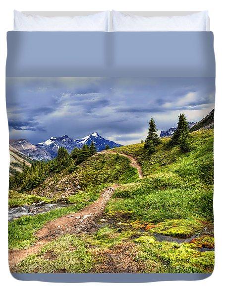 High Mountain Trail Duvet Cover