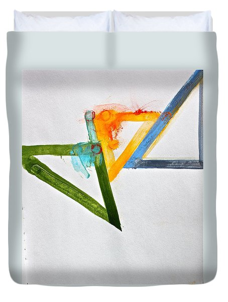 Duvet Cover featuring the painting High Noon by Cliff Spohn