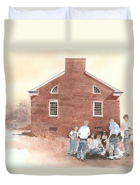 High Noon Shootout At The Tidal School  Duvet Cover