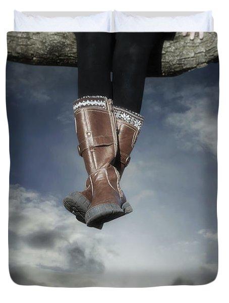 High Over The World Duvet Cover by Joana Kruse