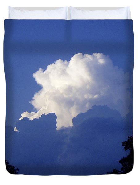 High Towering Clouds Duvet Cover