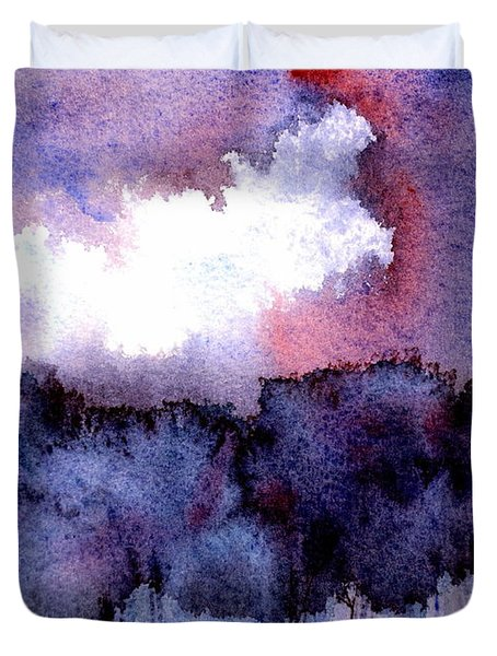 Duvet Cover featuring the painting High Valley Weather by Anne Duke