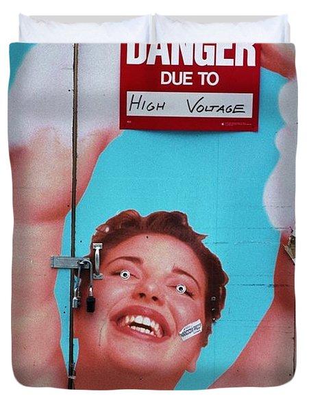 High Voltage Duvet Cover by Allen Beatty