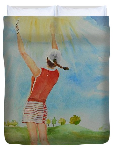 Highest Calling Is God Next Golf Duvet Cover