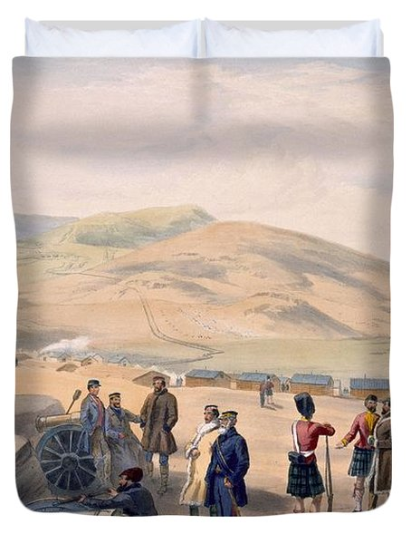 Highland Brigade Camp, Plate From The Duvet Cover