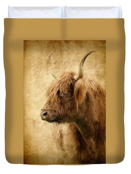 Highland Bull Duvet Cover by Athena Mckinzie