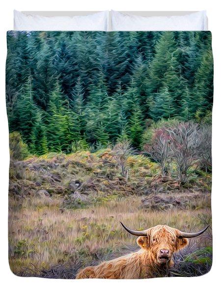 Highland Cow Duvet Cover by Adrian Evans