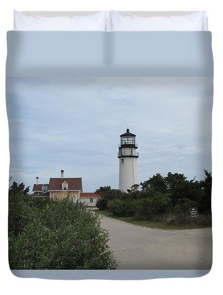 Highland Light Aka Cape Cod Light Duvet Cover