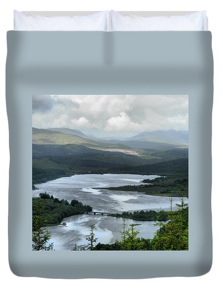Highland Loch At Lochaber Duvet Cover