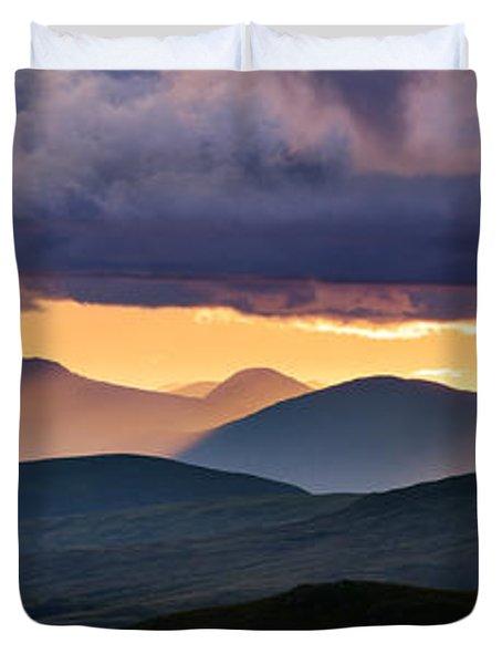 Scottish Highlands From Meall Nan Tarmachan Duvet Cover